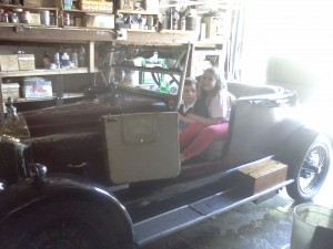 One of Franks old cars he collects!  The kids and I even went for a ride in it!