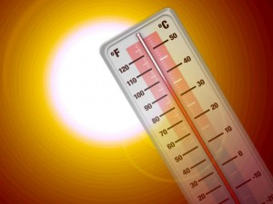 Extreme temperatures in the hot weather